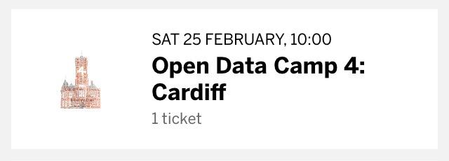 Screenshot of Open Data Camp 4 Ticket